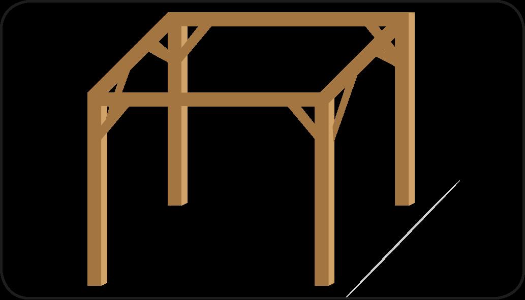 Alle staanders geplaatst  - Overkapping maken