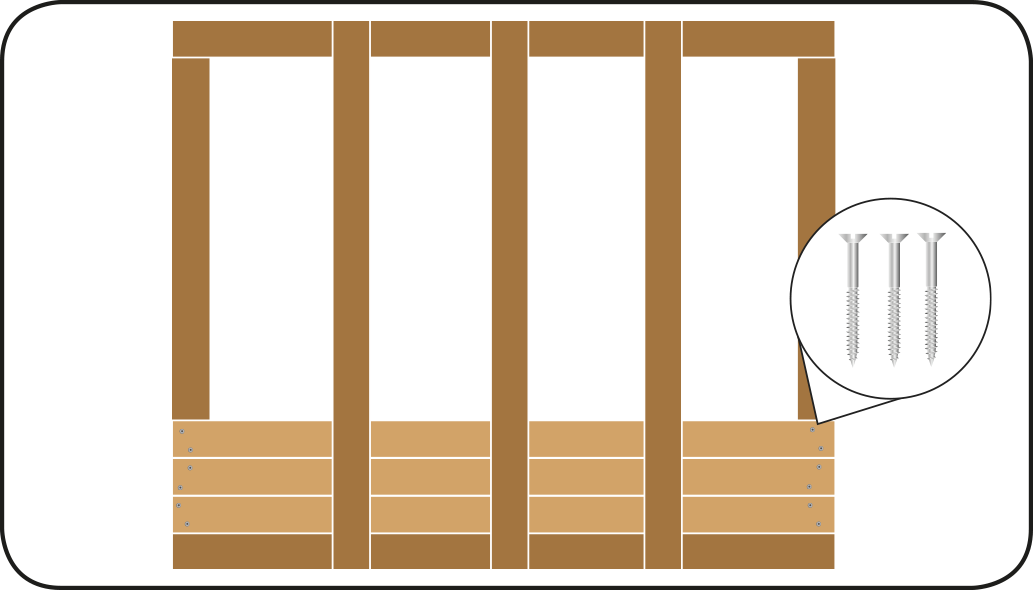 Bekleden houten wanden - Overkapping maken
