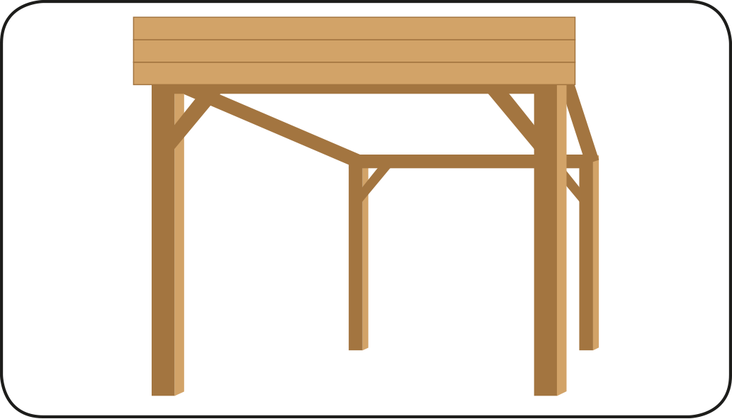 Boeidelen plaatsen - Overkapping maken
