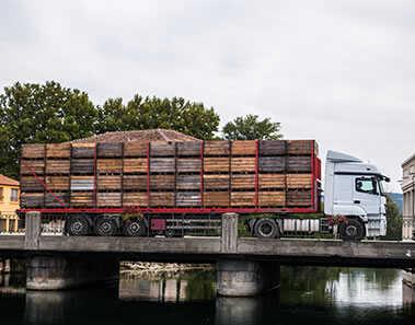 Verzending met vrachtwagen