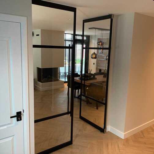 Stalen deuren dubbele taats deur