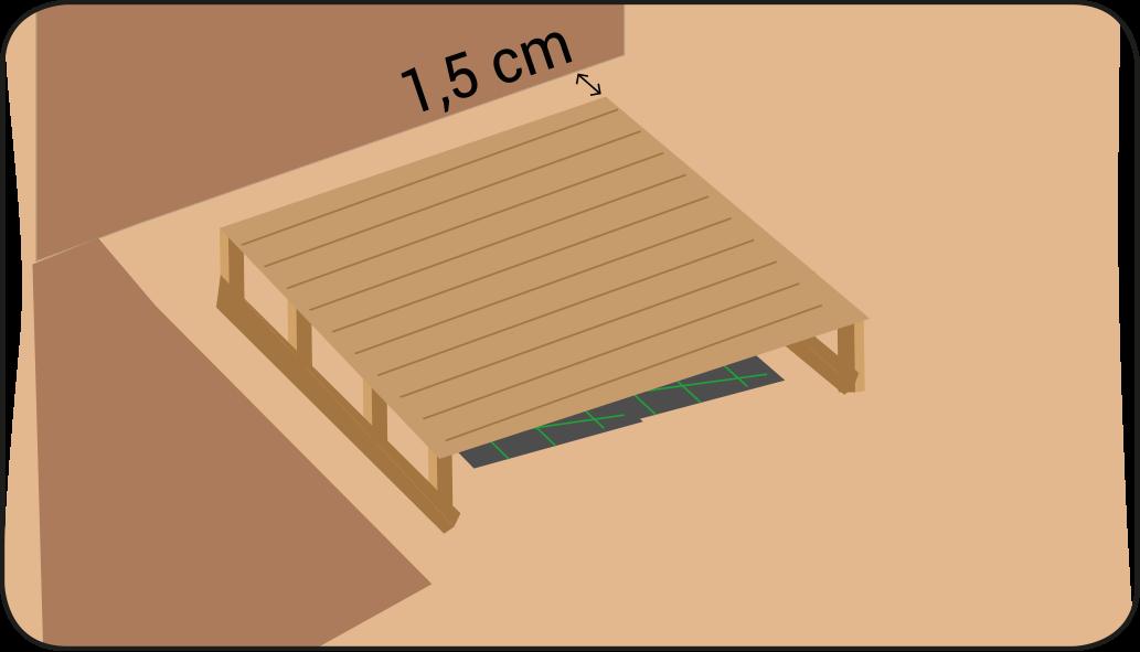 Terras monteren - Vlonder maken