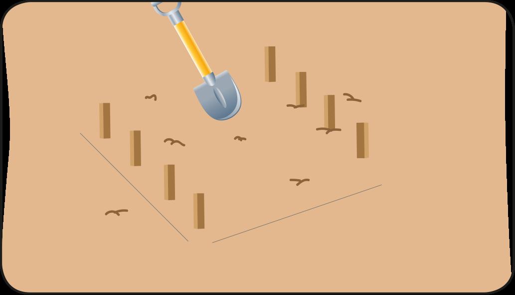 Afdak maken grond egaliseren